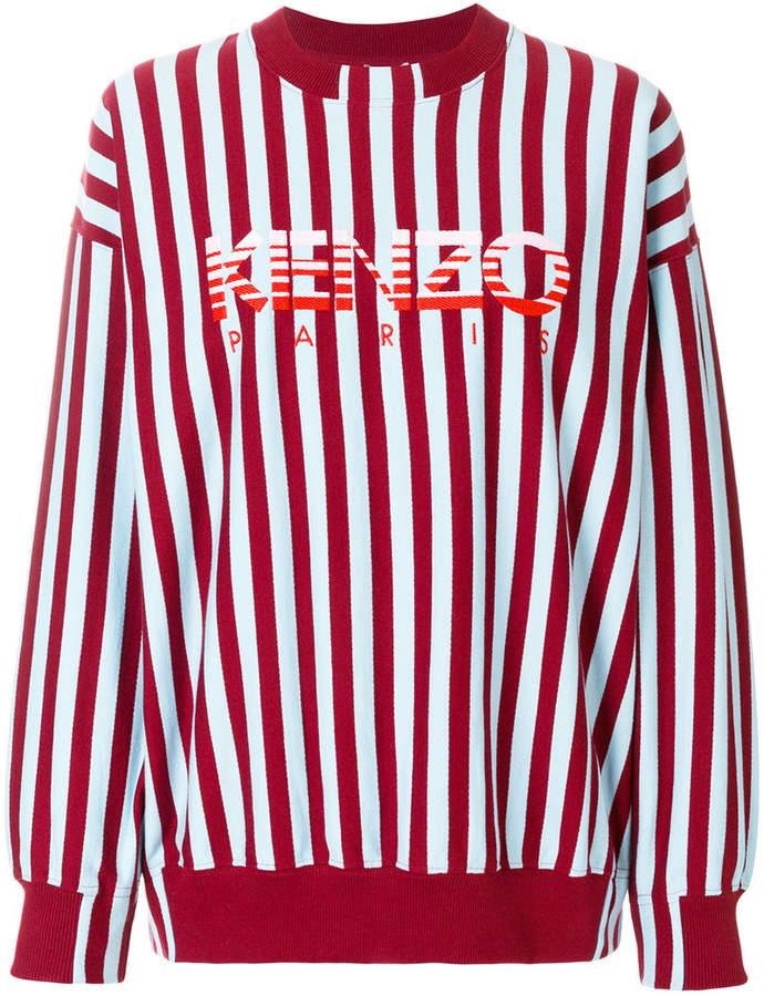 Kenzo striped logo sweatshirt