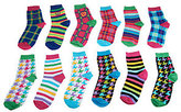 LittleMissMatched Little MissMatched little missmatched 12-pack Plaid & Houndstooth Crew Sock