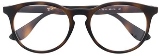 Ray Ban Junior Tortoiseshell Round Glasses