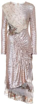Preen by Thornton Bregazzi Baijie metallic sequin dress