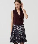 LOFT Petite Buttercup Flippy Skirt
