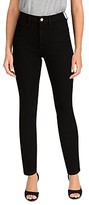 Thumbnail for your product : Jen7 by 7 for All Mankind High Waist Skinny Jeans in Black