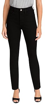 Jen7 by 7 for All Mankind High Waist Skinny Jeans in Black