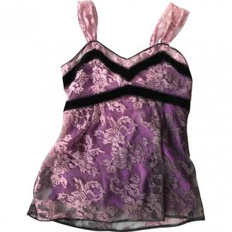 John Galliano Purple Lace Top for Women