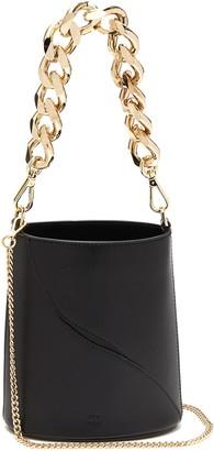 ATP ATELIER 'Faeto' chunky chain handle leather bucket bag