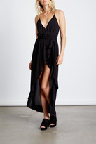 Cotton Candy Black Wrap Maxi