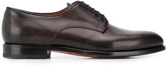 Santoni Lace-Up Low-Heel Derby Shoes