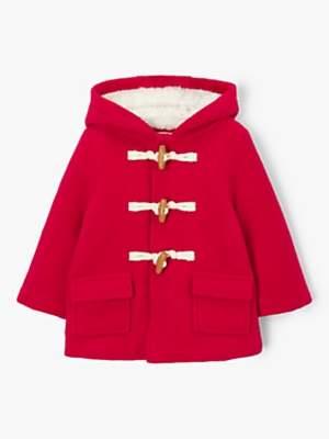 John Lewis & Partners Baby Duffle Coat, Red