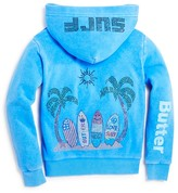 Butter Shoes Girls' Surf Motif Hoodie - Sizes 4-6