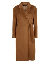 Jaeger Alpaca Wool Half-Belt Coat