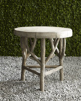 Horchow Artemis Faux-Bois Side Table