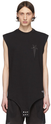 Rick Owens Black Champion Edition Sleeveless T-Shirt