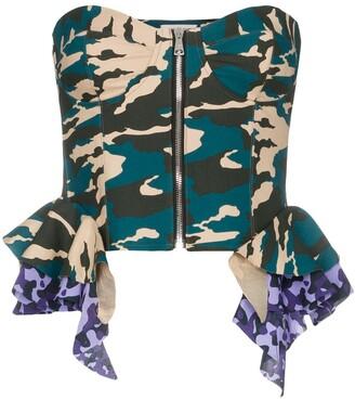 Natasha Zinko Frilled camouflage corset