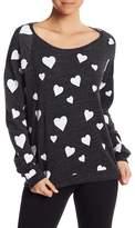 Alternative Heart Print Fleece Pullover