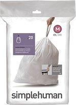 Simplehuman Code M Custom Fit Trash Can Liner, 1 refill pack (20 liners), 45 L / 12 Gal