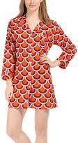 Malabar Bay Orange Scalloped Arches Organic Cotton Boyfriend Shirt