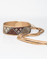 Le Château Leather-Like Woven Obi Belt