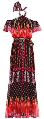 Temperley London Millais Cold-shoulder Printed Chiffon Maxi Dress