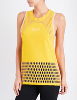 adidas by Stella McCartney Ladies Yellow Round Stylish Train Hiit Sleeveless Tank Top