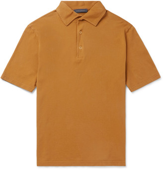 Thom Sweeney Garment-Dyed Cotton-Pique Polo Shirt