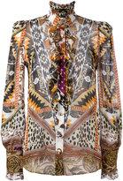 Roberto Cavalli printed sheer shirt - women - Silk - 42