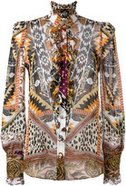 Roberto Cavalli printed sheer shirt - women - Silk - 44