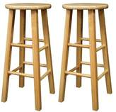 Winsome Wood 29-Inch Square Leg Barstool with Finish, Set of 2