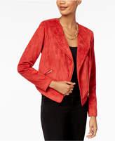 Thalia Sodi Faux-Suede Moto Jacket, Created for Macy's