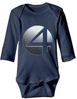 Samxing Fantastic Four Logo Infant Long Sleeve Outfits Bodysuits