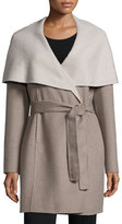 T Tahari Oversized Collar Wrap Coat