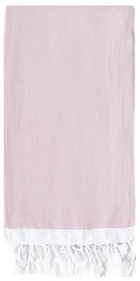 Turkish T Basic Single-Stripe Towel - Light Pink