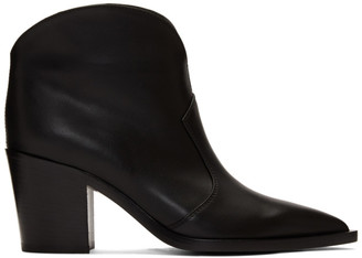 Gianvito Rossi Black Leather Cowboy Boots