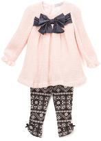 Wendy Bellissimo Pink Bow Babydoll Top & Arabesque Leggings - Infant