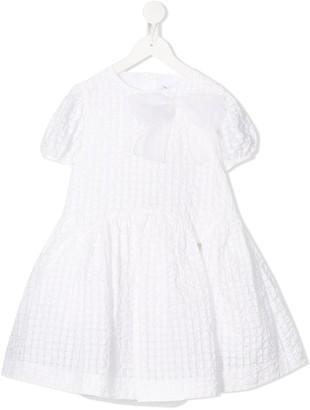 Simonetta Geometric-Pattern Mini Dress
