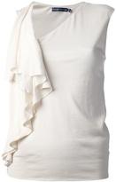 Ralph Lauren sleeveless ruffle vest