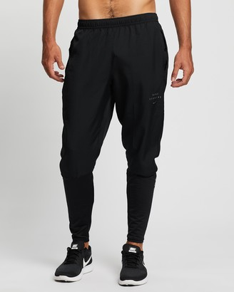 Nike Men's Black Pants - Essential Run Division Hybrid Running Pants - Size S at The Iconic