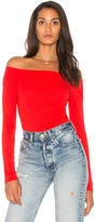 Splendid Off The Shoulder Bodysuit in Red. - size L (also in M,S,XS)