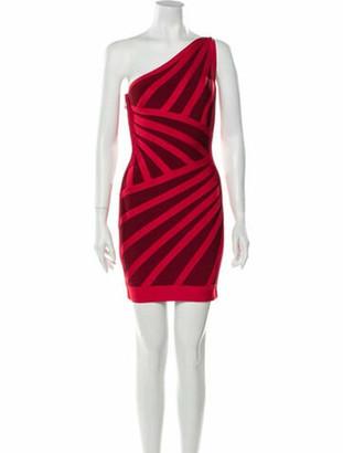 Herve Leger Carmela Mini Dress Red