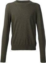 Maison Margiela crew neck jumper - men - Calf Leather/Wool - M