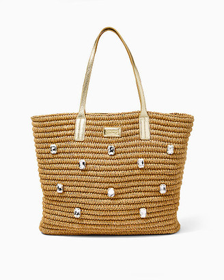 Lilly Pulitzer Sunstone Straw Tote