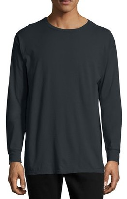 Hanes Men's and Big Men's ComfortWash Long Sleeve Tee, Up To Size 3XL