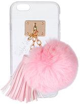 ashlyn'd Transparent iPhone 6 Case w/ Fur Pompom, Light Pink