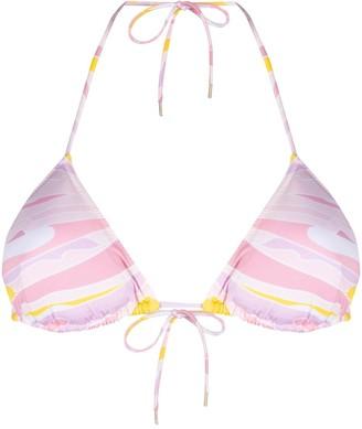 Emilio Pucci Vetrate-print bikini top