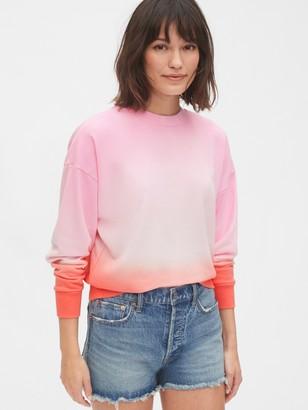 Gap Tie-Dye Cropped Sweatshirt in French Terry
