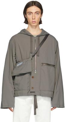 Maison Margiela Taupe Recycled Nylon Sports Jacket