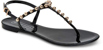 BCBGMAXAZRIA Jellia Beaded Jelly Thong Sandals