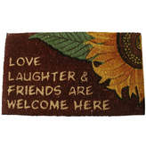 Asstd National Brand Love & Laughter Rectangle Doormat