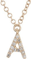 Ron Hami 14K Yellow Gold Diamond Initial Pendant Necklace - 0.03-0.06 ctw