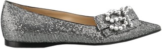 Sergio Rossi Metallic Effect Flat Shoes
