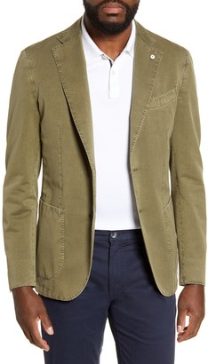 Lubiam Trim Fit Cotton & Silk Sport Coat